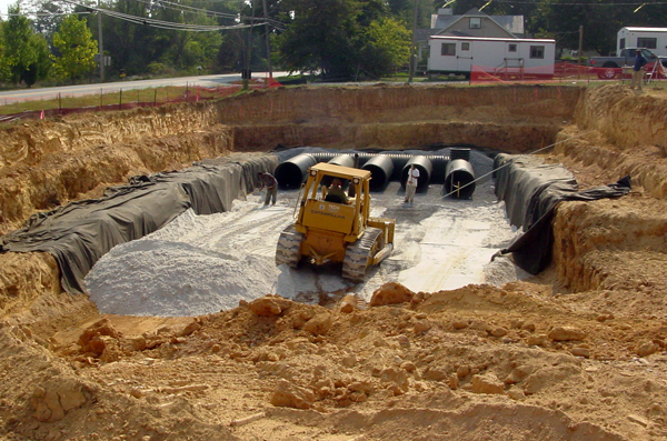 Storm Water Facility at Finskburg Library - Tech Contracting Company Project